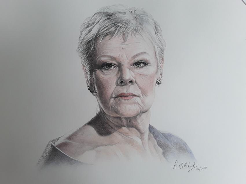 Judi Dench by Sazz
